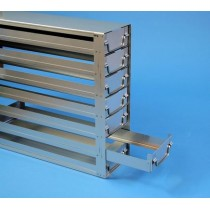 Rack a cassetti acciaio &#44 7 cassetti x 2 box microt/vial 2ml&#44 &#45Dim 145x308x428 (LxPxH)