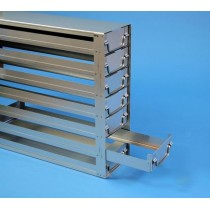 Rack a cassetti acciaio &#44 7 cassetti x 2 box microt/vial 2ml&#45Dim 145x293x403 (LxPxH)