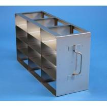 Rack orizzontale acciaio griglia 3x4 (orizz / vert) 12 box per microt/vial 2ml&#44 &#45Dim. 142x426x224mm