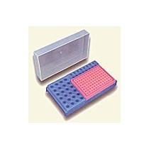 PCR Workstation con Rack preparativo per microtubi da 0,5 - 1,5 o 2,0. Confezione 5 pezzi in colori assortiti