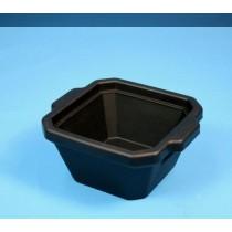 Contenitore ghiaccio PVC da 1 litro. Temp. &#45196&#176C a &#4393&#176C. Senza coperchio. Dim. 215x188x118mm. Nero