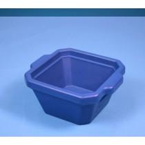 Contenitore ghiaccio PVC da 1 litro. Temp. &#45196&#176C a &#4393&#176C. Senza coperchio. Dim. 215x188x118mm. Blu