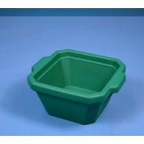 Contenitore ghiaccio PVC da 1 litro. Temp. &#45196&#176C a &#4393&#176C. Senza coperchio. Dim. 215x188x118mm. Verde