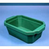 Contenitore ghiaccio PVC da 4 litri. Temp. &#45196&#176C a &#4393&#176C. Senza coperchio. Dim. 355x225x125mm. Verde