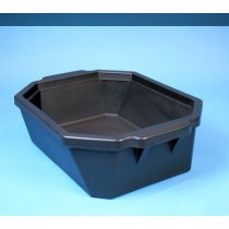 Contenitore ghiaccio PVC da 9 litri. Temp. &#45196&#176C a &#4393&#176C. Senza coperchio. Dim. 503x356x155mm. Nero