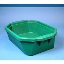 Contenitore ghiaccio PVC da 9 litri. Temp. &#45196&#176C a &#4393&#176C. Senza coperchio. Dim. 503x356x155mm. Blu