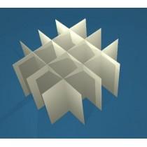 Griglia 4x4 per box in cartone 133x133&#44 per provette 50ml fondo conico