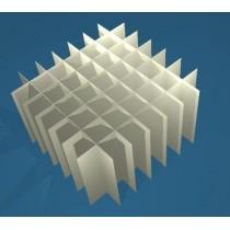 Griglia 7x7 per box in cartone 133x133&#44 provette 15ml fondo conico