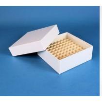 Box in cartone 136x136 con divisore 10x10 bianco - per vial 1.0 / 2ml