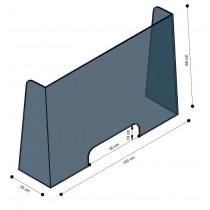 Parafiato in plexiglass 100x66cm a 2 pieghe termoformate