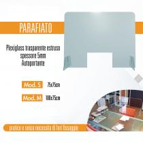 Schermo di protezione parafiato dim. 100x75 mm autoportante