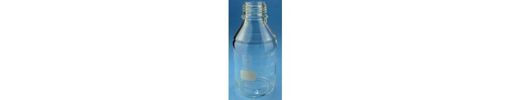 Bottiglie da laboratorio in vetro o plastica