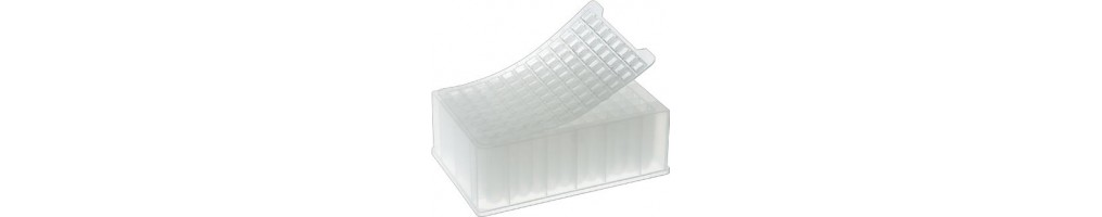 Pellicole sigillanti e tappeti sigillanti per sigillare piastre deepwell e per PCR